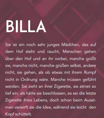 Kurzgeschichte Billa erscheint in Literaturzeitschrift Mosaik